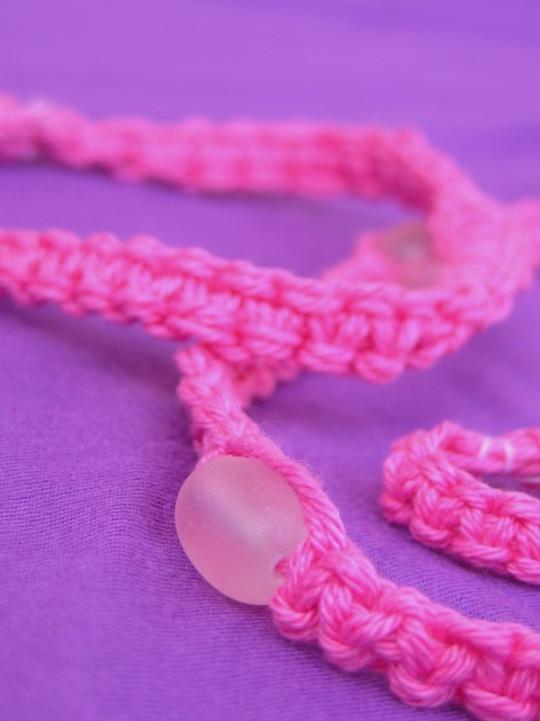 makrameekette-pink