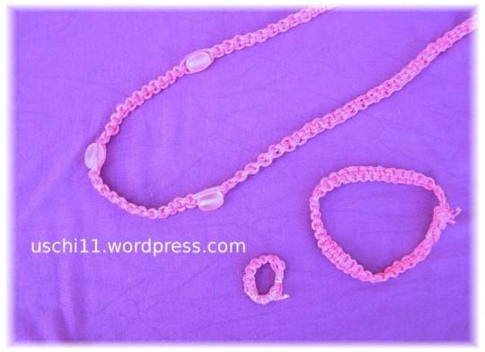 makramee-schmuckset-pink